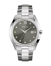 Bulova 96D122 Reloj de vestir para hombre, cuarzo, acero inoxidable, color: tono plateado