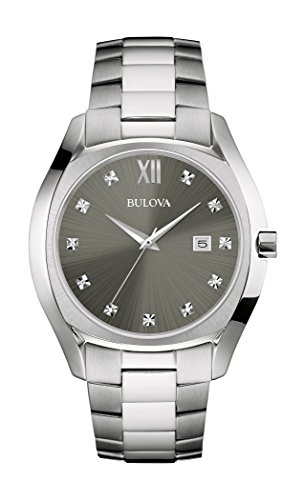 Bulova Men's Quartz Stainless Steel Dress Watch, Color:Silver-Toned (Model: 96D122) ()