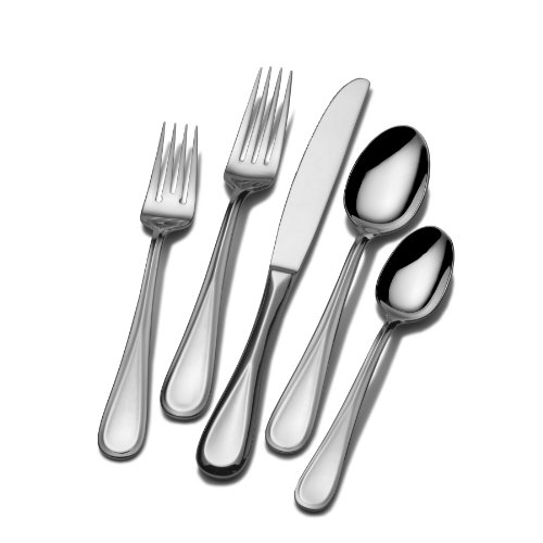 Mikasa 5061640 Bravo 65-Piece Stainless Steel Flatware Set, Service for 12