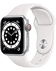 AppleWatch Series 6 (GPS + Cellular, 40mm) - Silver Aluminum Case with White Sport Band