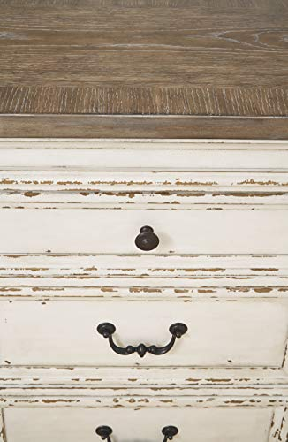 Farmhouse Buffet Sideboards Signature Design by Ashley Realyn Dining Room Server, Chipped White farmhouse buffet sideboards