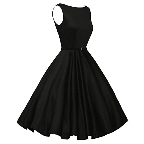 Dresses for Womens,DaySeventh Women Vintage Bodycon Sleeveless Casual Retro Evening Party Prom Swing Dress ()