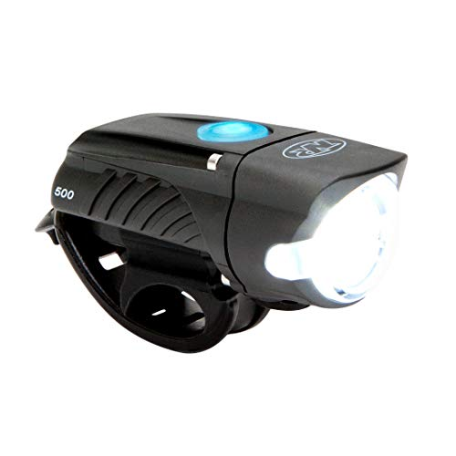 NiteRider Swift 500 Lumens USB Rechargeable Road Commuter LED Bike Light Water Resistant Compact Lightweight Bicycle Headlight, LED Front Light Easy to Install Men Women Kids Cycling Safety