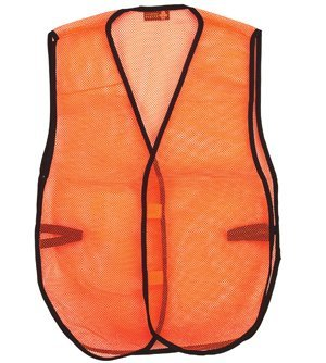 Safety Depot Economy Light Weight Mesh Durable Hi Vis Vest Low Cost Value One Size Fits Most (Pack of 3) (8018D, Orange)