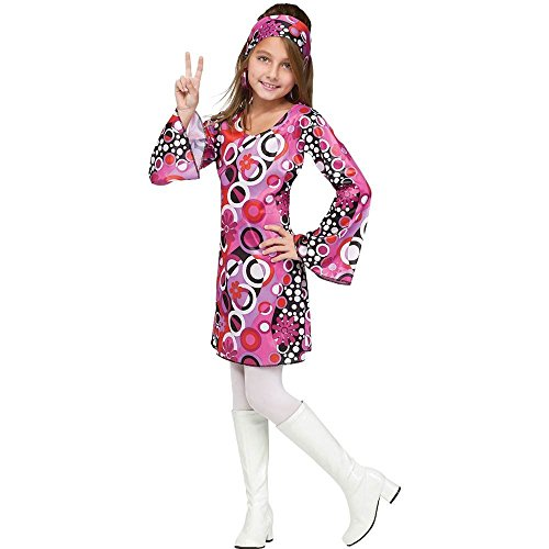 Big Girls' Feelin' Groovy Costume - M -