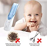 Kids Hair Clipper Professional Baby Hair Clipper Cordless Rechargeable Electric Hair Trimmer Haircut for Baby Kids Babies with 3 Combs Setting Length Collecting Broken Hair 8 Kits Blue or Grey