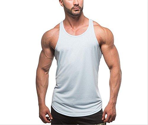 shirt Vin Bodybuild Hippolo Rouge Fit l Sport Muscle Façonnage Débardeur Wear T Blanc Tight Homme Pour Marcel A6X0Ax