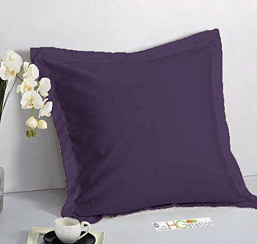 "1 Pair 2 Pieces Euro Pillow Shams 26"" x 26"" + 1.5"" Hem Purple Machine Wash Dry"