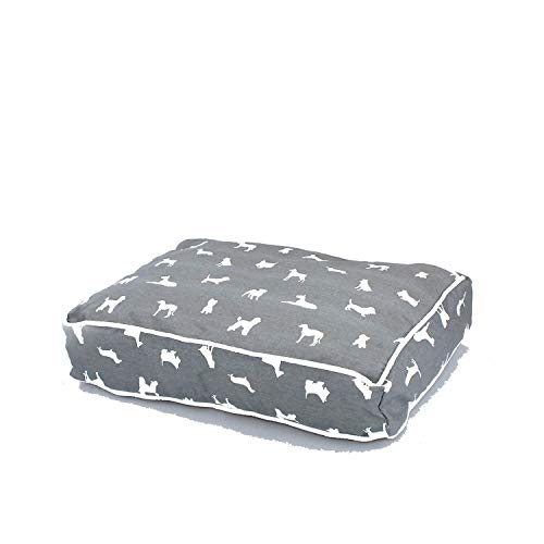Pet Products Dog Beds Mats Pet Bed Puppy Pad Dog Bench Sofa Lounger Dog Bed Mat for Small Medium Large Dog Pitbull House for Cat,Grey-Coo039,M 60X40X10 cm