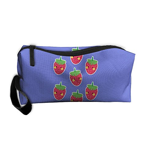 Portable Make-up Receive Bag Shy Strawberry Travel&home Storage Bag Zipper Organization Space Saver Canvas Buggy Pouch