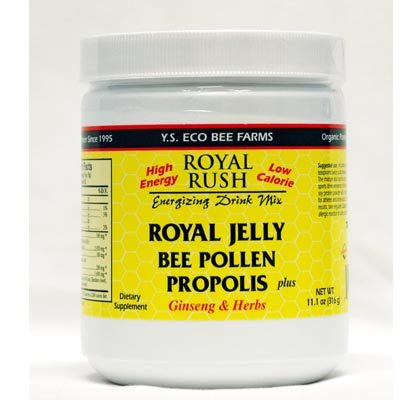 Freeze Dried Royal Jelly + Pollen, Propolis, Ginseng & Herbs - 21,700mg YS Eco Bee Farms 11 oz Powder