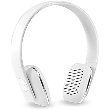 7a468ee9394 Innovative Technology Rechargeable Wireless Bluetooth Modern Headphones  with Rubberized Finish, White
