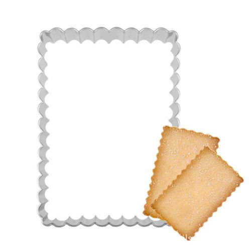 CaandShop(TM) rectangle lace biscuit mold baking cookiecutter mold stainlesssteel cook (Lace Biscuit)