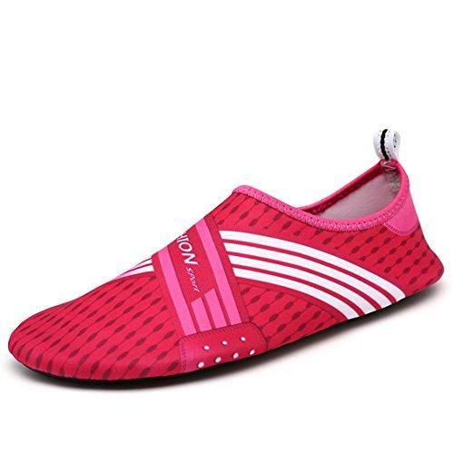 Saguaro Hommes Et Femmes Plage Nagent Surf Yoga Chaussures Deau, Aqua  Chaussettes Rose Rouge fbb76c852e6c