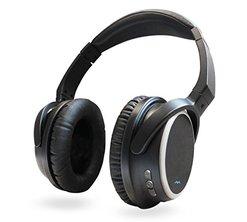 Miccus TV Bluetooth Wireless Headphones v4.2 Over Ear, Listen in HD NO DELAY, aptx Low Latency, Noise Isolating Headset with Mic for Phone Computer PC Mowing Airplane Travel Foldable (SR-71 ()