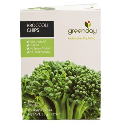 Greenday Broccoli Chips 30g 3pack Amazing thailand by Grocery & Gourmet Food