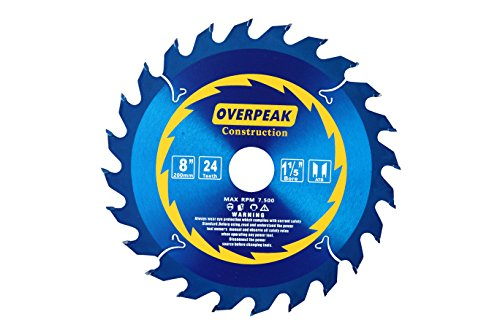 10' Miter Saw Blade (Overpeak 8 inch 24 Tooth ATB 1-11/64