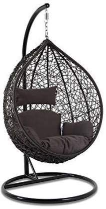 Dmosaic Hanging Swing Chair With Cushion Hook Color Black For 1 Outdoor Indoor Balcony Garden Patio Amazon In Home Kitchen