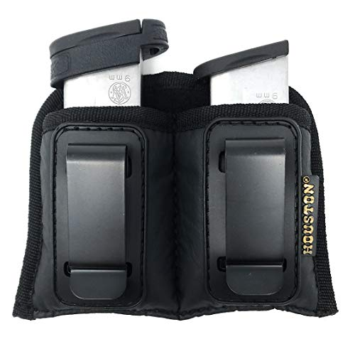 Glock Single Stack - Double Concealment Magazine & Multi Use Holster IWB Clip Fits Most Single Stack 9mm, M&P Shield, Xds, Glock 43 (Double Medium Single Stack 9mm /.380 Cal)