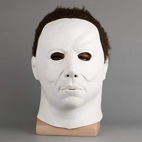 Hope Film Halloween Mike Mel Maschera di Halloween Smorfia Orrore Lattice Maschera a Pieno facciale Cosplay Maschere mascherate in Maschera,A-OneDimensione