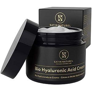 GAGNANT 2020* Crème Hydratante Visage BIO Acide Hyaluronique 50ml – Soin Visage pour Femme a l'Aloe Vera – Creme Anti…