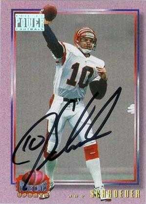Jay Schroeder autographed Football Card (Cincinatti Bengals) 1993 Pro Set Power Football #36