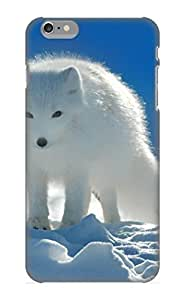 Case Provided For Iphone 6 Plus Protector Case Animal Arctic Fox Opus Fox Polar White Blue Sky Animal Snow Phone Cover With Appearance
