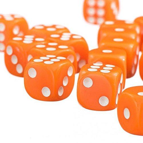 SONONIA  100個 サイコロ D6 ドラゴンゲーム用 ダイス パーティー おもちゃ オレンジ