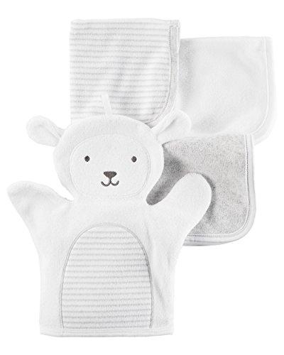 4 Pack Washcloths (Carter's Baby 4-pack Lamb Washcloths)