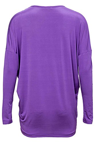 Costume National - Camiseta de manga larga - para mujer Glänzend Violett