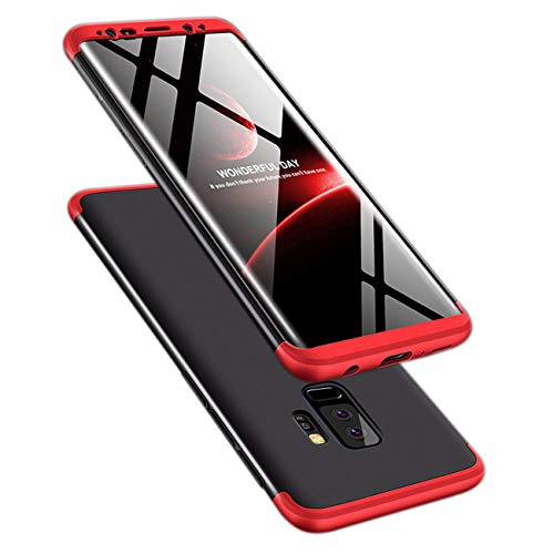 Galaxy S9 Plus Case, ATRAING 3 in 1 Ultra-Thin PC Hard Case Cover for Samsung Galaxy S9 Plus(2018) (Red+Black+Red)
