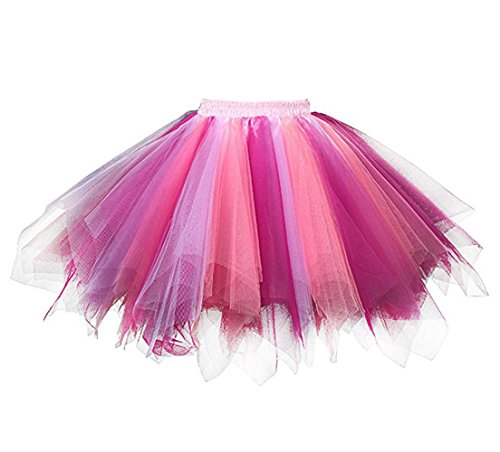 f37716ea89 Kileyi Womens Tutu Costume Adult Party Dance Tulle Skirt Short Fluffy  Petticoat Coral Fuchsia S - Buy Online in UAE. | Apparel Products in the  UAE - See ...