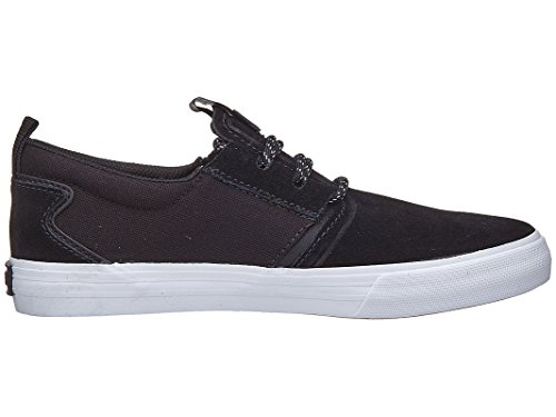 Mens Flow Black White Supra Skate Grey Gum Grey Black Shoe Dark ZgwfP6q1