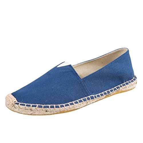 Vogstyle Unisex Adulto Zapato Flats Ballerinas Slip-On Zapatos de Lona Art 13-3 Blau