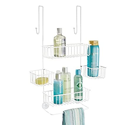 Surprising Indian Decor 285600 Over Door Shower Caddy Toiletry Storage Shelves Hanging Bathroom Organiser For Shampoo Conditioner Soap Satin Download Free Architecture Designs Philgrimeyleaguecom