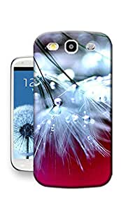 Lemon Tree Shop Water Droplets on White dandelions TPU Hard Phone Case for Samsung Galaxy S3