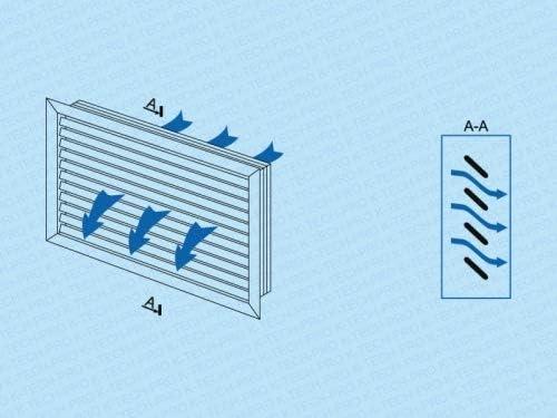 Rejilla de ventilaci/ón empotrable con l/áminas r/ígidas de pl/ástico.