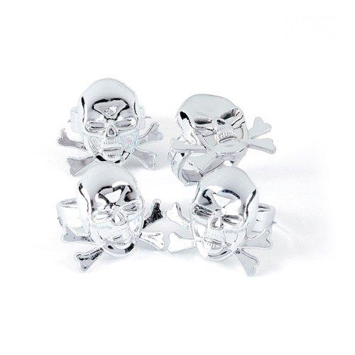 Plastic Pirate Skull Rings (4 -
