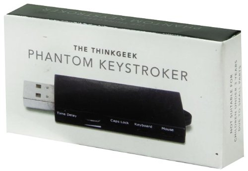 ThinkGeek Phantom Keystroker V2 - Time Delay Dial, Caps Lock, Keyboard, and  Mouse Switches - High-Tech Office-Based Prank Device