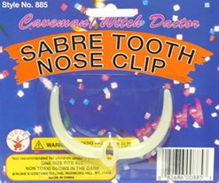 Sabre Tooth Nose Clip (Sabretooth Costume)