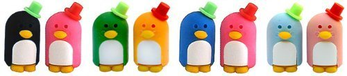 Mr. & Mrs. Penguin Puzzle Erasers, Pair (Colors may