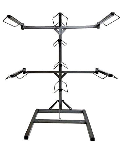 Equiracks Saddle Rack Adjustable Free Stand 8 Arm Steel Gray 8-SR-1908 by Equi-Racks