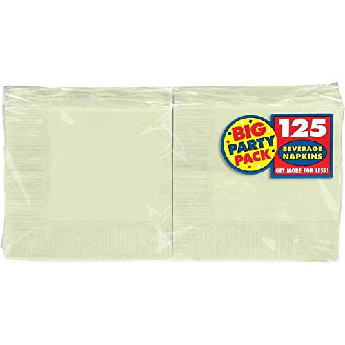 Amscan Big Party Pack 125 Count Beverage Napkins, Leaf Green (Color Schemes For Parties)