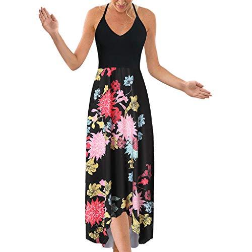 【HebeTop】 Beach Backless Sundress Boho Halter Evening Party Swimsuit Tube Dress ()