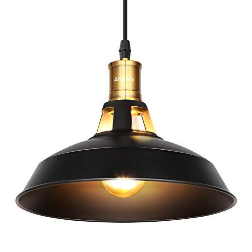 Albrillo LED Pendant Light, Metal Industrial Ceiling Mounted Lighting for Kitchen Dining Room Restaurant Bar Counter Pool Table