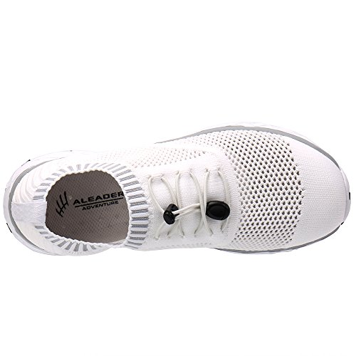 ALEADER Mens Adventure Aquatic Water Shoes White/Gray 10.5 D(M) US