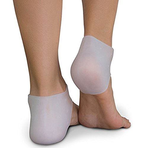 Plantar Fasciitis Treatment, Heel Pain Relief Protectors 1 pairs - Foot Inserts for Achilles Tendonitis Tendon, Spurs, Fascia Support, Sore Feet, Bruised Foot Cracked Heels for Unisex Cracked Heel Pain