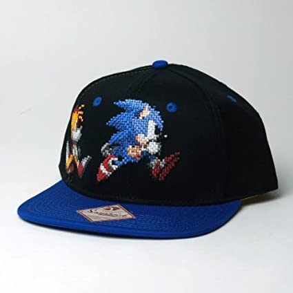 1b172e44dba Amazon.com  Sonic The Hedgehog Baseball Cap New Sega Pixel Sonic ...