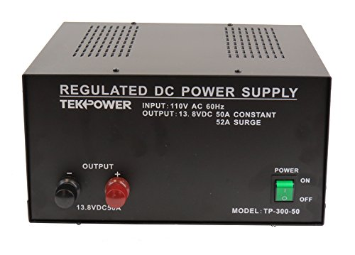 - TekPower TP300-50 50 Amp DC 13.8V Regulated Power Supply with Fuse Protection (50A)