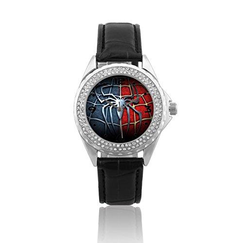 Fashion Women Wrist Watch Leather Band PSC244 Marvel The Avengers Superhero Spiderman 3 #2W
